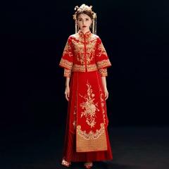 新款红色秀禾服新娘嫁衣结婚礼服中式敬酒礼服5010600927 图片色 S