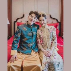 中式出阁服新郎结婚当天嫁衣男秀禾奢华款W5010560206-31 S 图片色