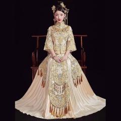 中式出阁服新娘结婚当天嫁衣秀禾服W5010240207-29 图片色 2XL