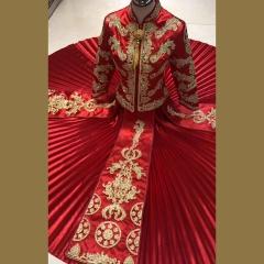 中式出阁服新娘结婚当天嫁衣秀禾服W5010470208-13 S 图片色(加钻)