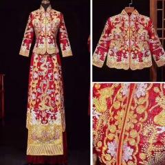中式出阁服新娘结婚当天嫁衣秀禾服W5010470208-16 S 图片色(加钻)