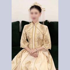 中式出阁服新娘结婚当天嫁衣秀禾服W5010630305-1 2XL 如图