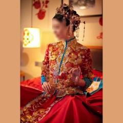 中式出阁服新娘结婚当天嫁衣秀禾服W501063032101 S 如图