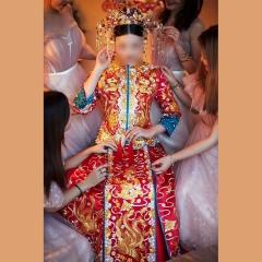 中式出阁服新娘结婚当天嫁衣秀禾服W501063032101 图片色 2XL