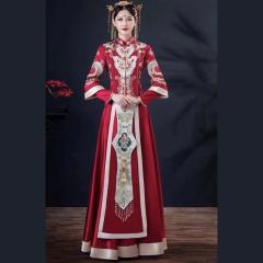 中式出阁服新娘结婚当天嫁衣秀禾服W501046042-2 图片色 S