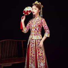中式出阁服新娘结婚当天嫁衣秀禾服W5010560410-6 图片色 M
