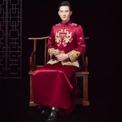 中式出阁服新郎结婚当天嫁衣男秀禾W5010440503-7 图片色 XL