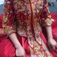 中式出阁服新娘结婚当天嫁衣秀禾服W5010470528-4 图片色 S