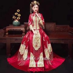 中式出阁服新娘结婚当天嫁衣秀禾服W5010040528-5 图片色 S