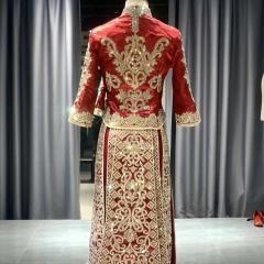 新娘结婚当天红色烫钻出阁秀禾服W5010470612-2 图片色 2XL