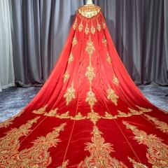 中式婚礼出阁服新娘结婚当天嫁衣秀禾披风W5010690107-7 图片色 均码