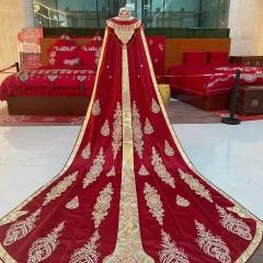 中式婚礼出阁服新娘结婚当天嫁衣秀禾披风W5010630107-8 图片色 均码