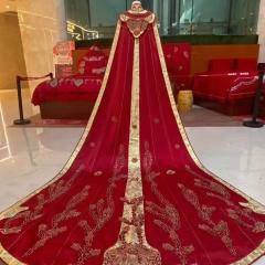 中式婚礼出阁服新娘结婚当天嫁衣秀禾披风W5010630107-9 图片色 均码