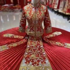 中式婚礼出阁服新娘结婚当天嫁衣秀禾服W5010470322-09 图片色 S