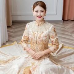 中式婚礼出阁服新娘结婚当天嫁衣秀禾服W501KT0325-31 图片色 S