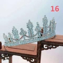 新娘韩式精美气质锆石小皇冠高端婚礼晚会造型写真婚纱头饰品 图片色 16
