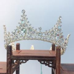 新娘婚礼欧式圆形皇冠头冠结婚头饰发饰生日派对婚礼饰品 图片色 标准
