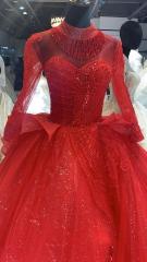 大红色婚纱