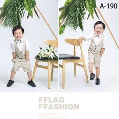 拍照童装儿童服装时尚花童服装W906GZTHA-190 如图 均码
