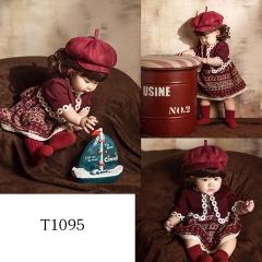儿童艺术写真服童装时尚风格服装W906GZTHT1095 如图 均码