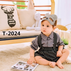儿童艺术写真服童装时尚风格服装W906GZTHT2024 如图 均码