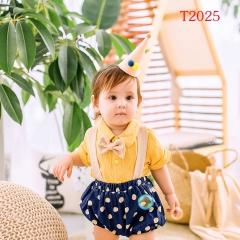 儿童艺术写真服童装时尚风格服装W906GZTHT2025 如图 均码