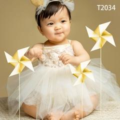 儿童艺术写真服童装时尚风格服装W906GZTHT2034 如图 均码