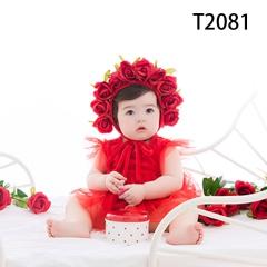 儿童艺术写真服童装时尚风格服装W906GZTHT2081 如图 均码