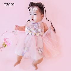 儿童艺术写真服童装时尚风格服装W906GZTHT2091 如图 均码