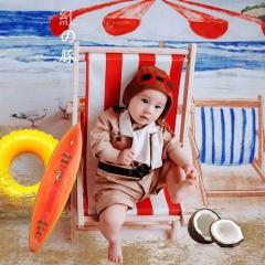 儿童艺术写真服童装时尚风格服装W906GZTHA265 如图 均码