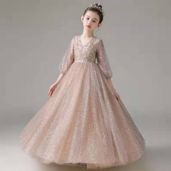 儿童艺术写真服童装时尚风格服装小纱裙W906JHHS0325-13 如图 均码