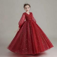 儿童艺术写真服童装时尚服装小纱裙W906JHHS0325-15 如图 均码