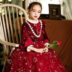 儿童艺术写真服童装时尚服装小纱裙W906JHHS0325-16 如图 均码