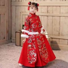 儿童艺术写真服童装中式小纱裙W906JHHS0325-21 如图 均码