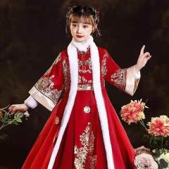 儿童艺术写真服童装中式小纱裙W906JHHS0325-24 如图 均码