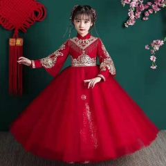 儿童艺术写真服童装长袖拉链款小纱裙W906JHHS0325-25 如图 均码