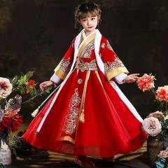 儿童艺术写真服童装中式小纱裙W906JHHS0325-26 如图 均码