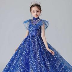 儿童艺术写真服童装走秀演出小纱裙W906JHHS0325-27 如图 均码