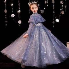 儿童艺术写真服童装走秀演出小纱裙W906JHHS0325-29 如图 均码