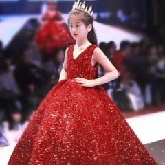 儿童艺术写真服童装走秀演出小纱裙W906JHHS0325-30 如图 均码