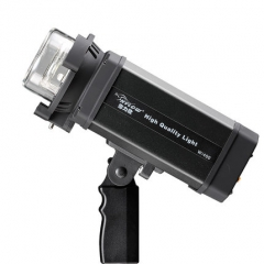 海力欧400W led外拍灯 白光造型灯 内置无线高速摄影灯闪光灯 图片色  一台 大黑鲨外拍灯40