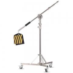 专业不锈钢顶灯架摄影灯闪光灯影棚灯外拍灯带滑轮顶灯架 图片 907顶灯架