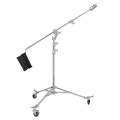 WS-906大型影视摄影不锈钢两用重型轮滑脚架影室移动灯架 图片 906顶灯架