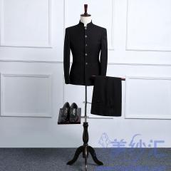 影楼工作室婚纱摄影拍照款礼服男装中式中山装正装二件套3010069863 如图(二件套) 44